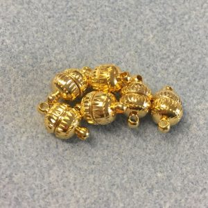 Gold Plated 14mm Magnetic
