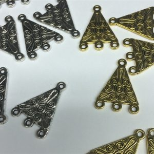 Triangle Connectors available in gold and silver tone-0