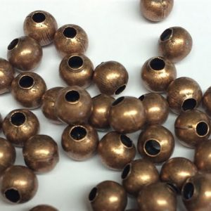 Copper Spacer Beads 6mm