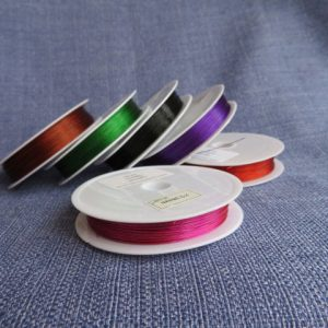 Tiger Tail Beading Wire 0.38mm availble in many colours-0