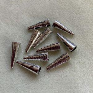 Silver Bead Cones