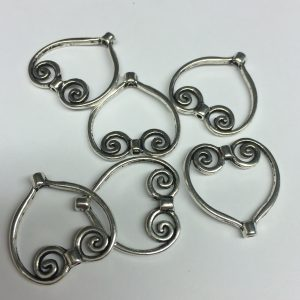 Heart Bead Frames Antique Silver