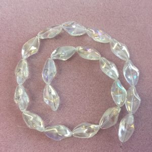 Irregular Oval Clear Ab Beads