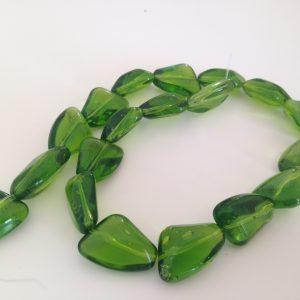 Irregular Green Triangle Beads