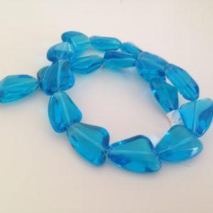 Irregular Blue Triangle Beads