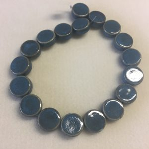 20mm Coin Ceramic Blue