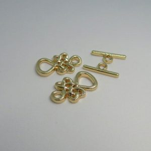 Celtic Toggle Clasp Gold Plate