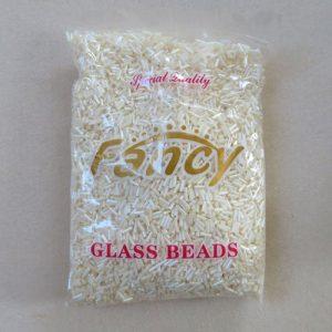 SALE - Cream Bugle Beads 450g
