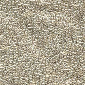 Galvanised Silver Miyuki Delica Beads DB-035 7.2g