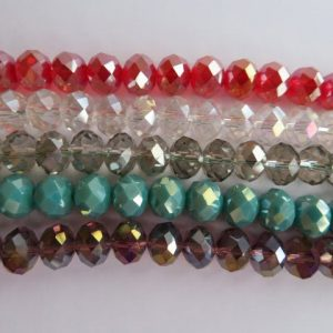 Faceted Rondelle 10x8mm Ab-0