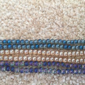 4mm Round Ab Coated Beads-0
