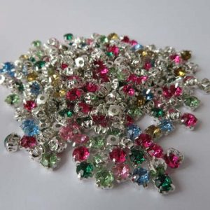 Acrylic Montee Beads 5mm Beads