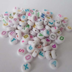 Acrylic Alphabet Beads 7mm Beads