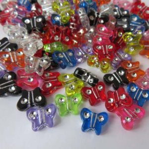 Acrylic Butterfly 11mm Beads
