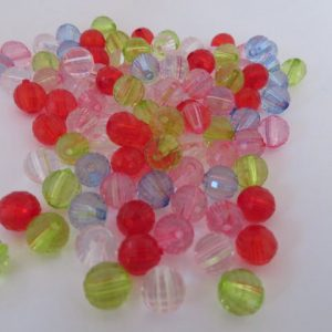 Acrylic Faceted 8mm Beads