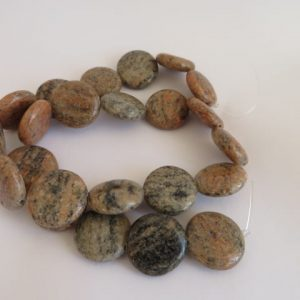 Black Sesame Jasper 18mm semi precious beads