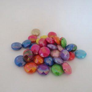 Coin Beads 14mm Ab Acrylic