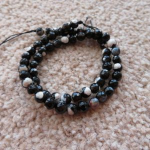 Agate Faceted 6mm Black