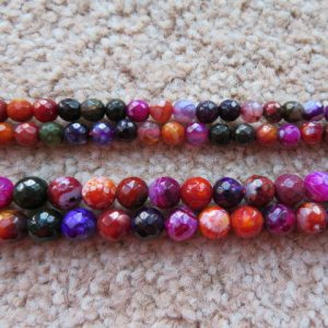 Agate Faceted Vibrant Colours-0