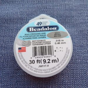 Beadalon 49 Strand Bright. High quality jewellry wire