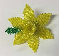 Daffodil Hand Stitched Brooch Handmade Jewellery