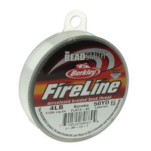 4lb Smoke Fireline Beading thread