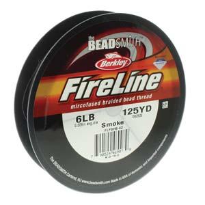 6lb Smoke Fireline 125 yrds Beading thread