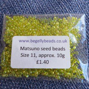 Yellow Ab Size 11 Matsuno seed Beads