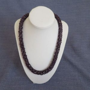 Chenille Pinch Necklace Handmade Jewellery