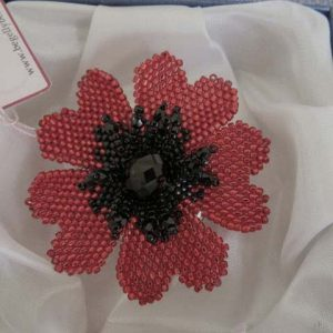Poppy Hand Stitched Handmade Jewellery