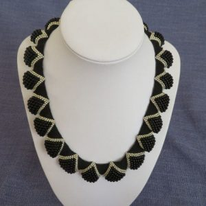 Scalloped Peyote Collar Handmade Jewellery