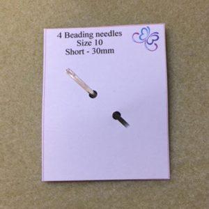 Size 10 short beading needles