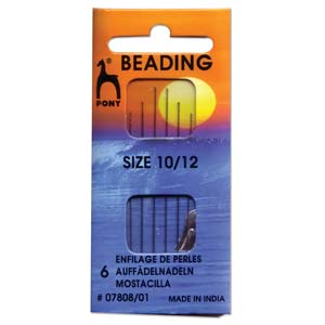 Pony beading needles size 10 & 12