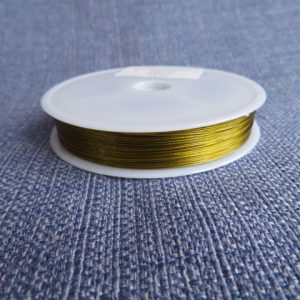Tiger Tail Beading Wires Gold-0.45mm