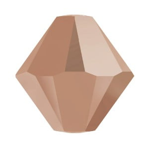 Swarovski 4mm Bicone Crystal Rose Gold