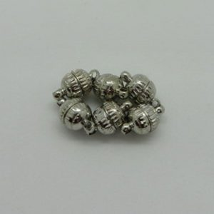 Magnetic Antique Silver Round Clasps