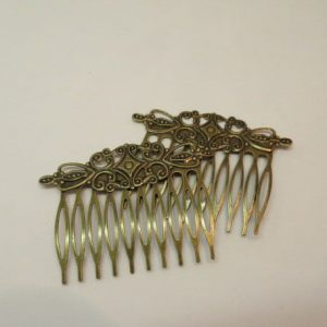 Hair Comb Filigree Bronze