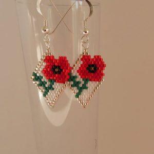 Poppy Earrings Pattern download