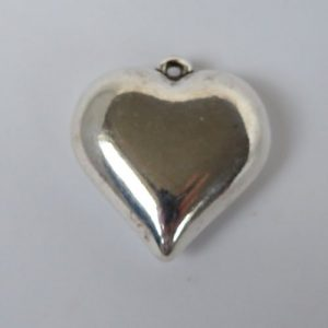 Large Puffed Heart Pendant