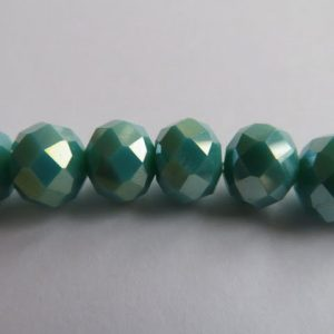 Faceted Rondelle 10mm Ab-op-Turquoise