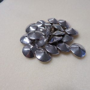 Acrylic Silver Discs Spacer Beads