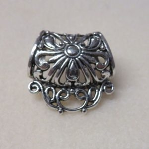 Filigree Ornate Bails Silver 33mm