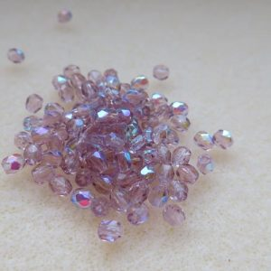 3mm Czech Amethyst AB