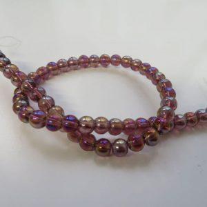 Amethyst Ab 6mm Beads