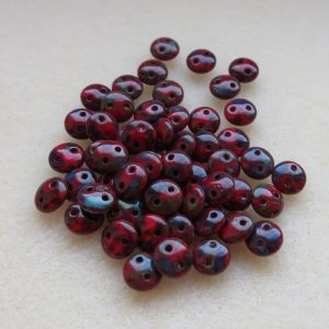 Picasso Red Lentil Beads