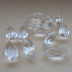Crystal Glass Briolette 20mm