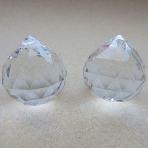 Crystal Glass Pendant 24mm