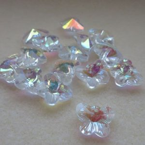 Crystal Glass Butterflies 11mm