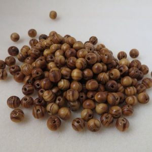 Wooden Coffee 8mm Beads