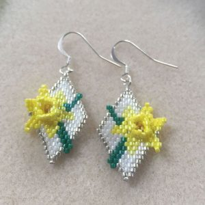 Daffodil Earrings Pattern